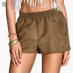 H&M Coachella Faux Suede Shorts with Pockets